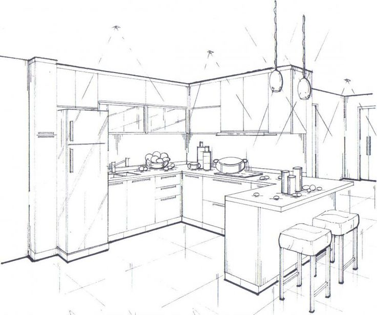 3d Sketch Small Kitchens And Islands: Argyle Builders